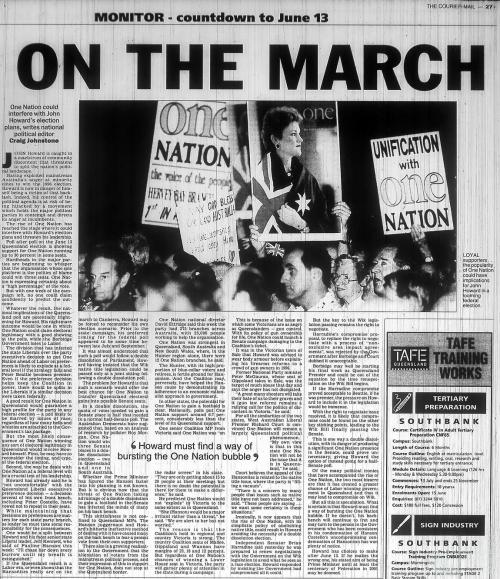 On the march, 1998